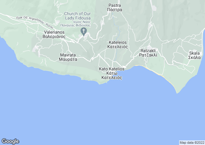 Map for Katelios, Cephalonia, Ionian Islands