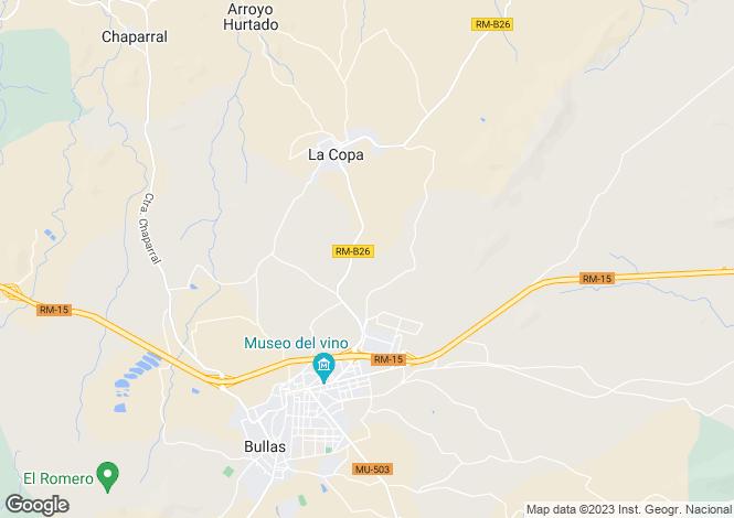Map for Murcia, Bullas