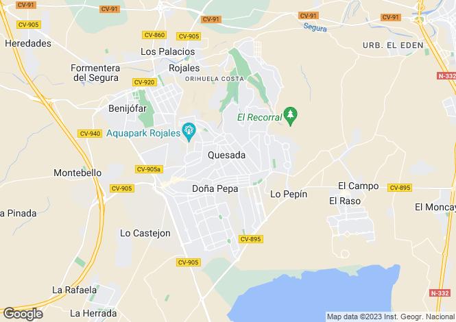 Map for Ciudad Quesada, Alicante, Valencia