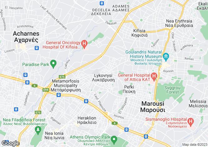 Map for Amarousi, Attica