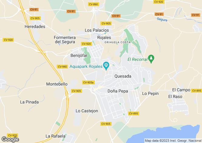 Map for Ciudad Quesada, Alicante, Spain