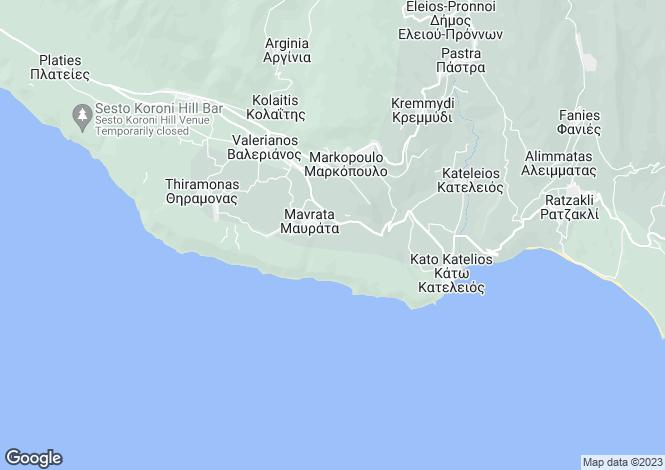 Map for Mavrata, Cephalonia, Ionian Islands