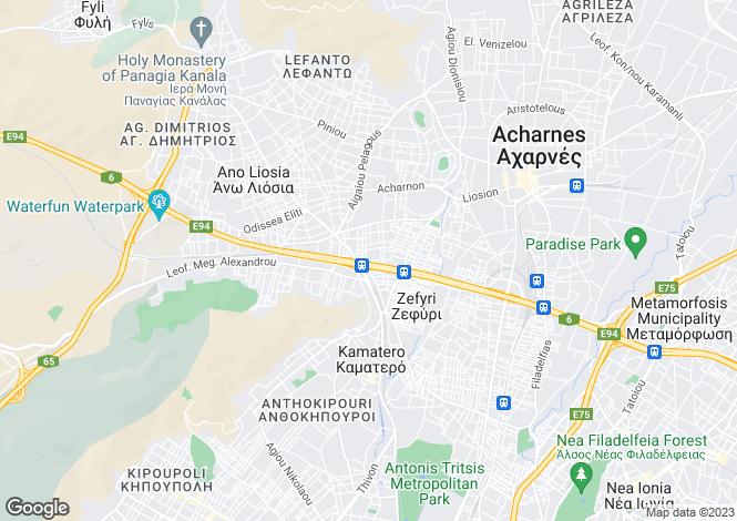 Map for Attica, Nea Liosia
