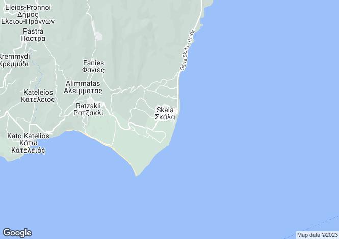 Map for Ionian Islands, Cephalonia, Skala
