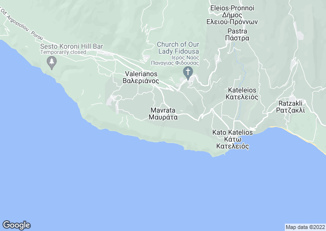 Map for Ionian Islands, Cephalonia, Mavrata