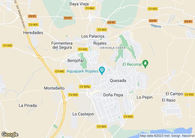 Map for Valencia, Alicante, Ciudad Quesada