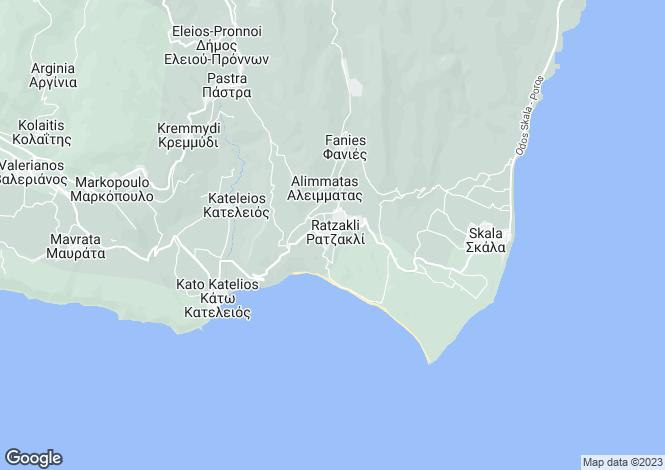 Map for Ionian Islands, Cephalonia, Ratzakli