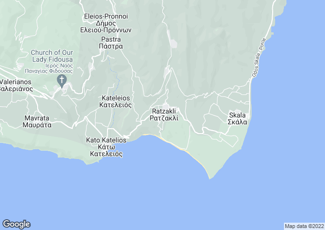 Map for Ionian Islands, Cephalonia, Ratzakli