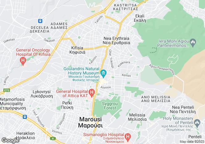 Map for Kifisia, Attica