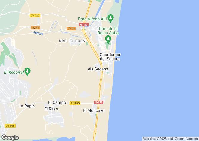 Map for Guardamar Del Segura, Alicante, Spain