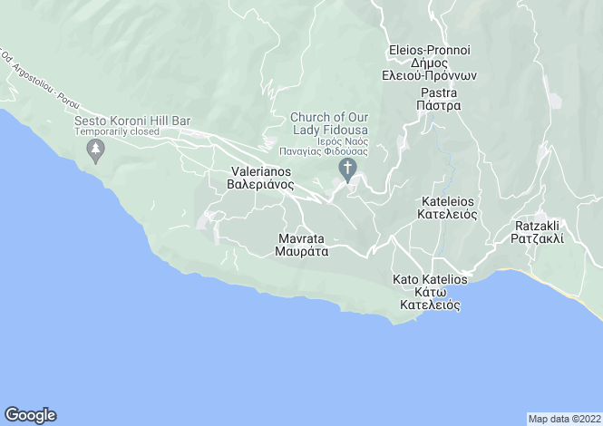 Map for Ionian Islands, Cephalonia, Hionata