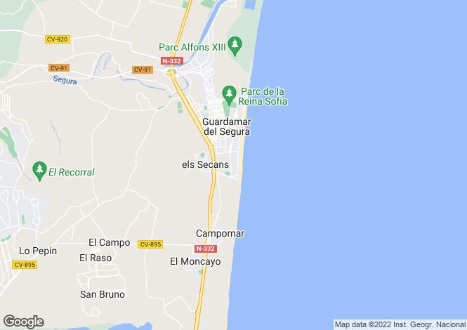 Map for C/ Nicaragua, Guardamar del Segura, Guardamar del Segura