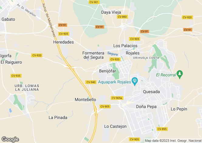 Map for Benijofar, Alicante, Spain