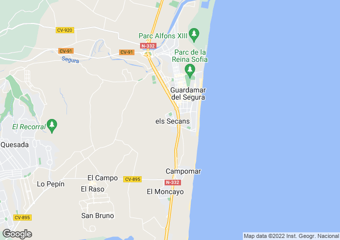 Map for Guardamar, Alicante