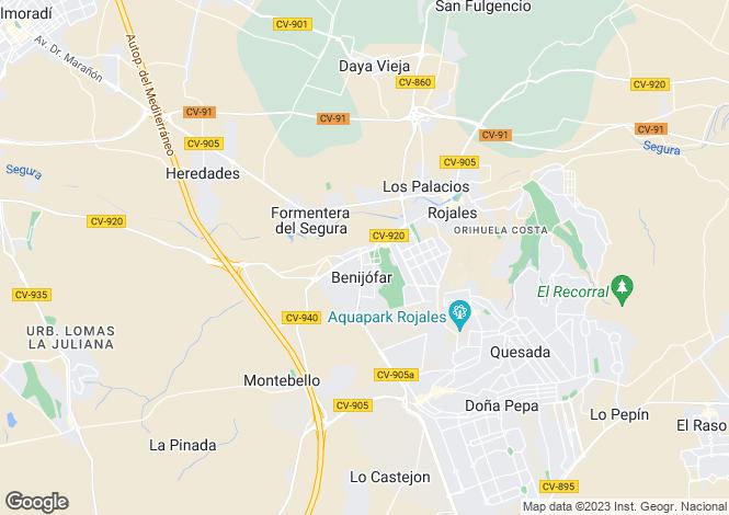 Map for Benijofar, Alicante, Valencia