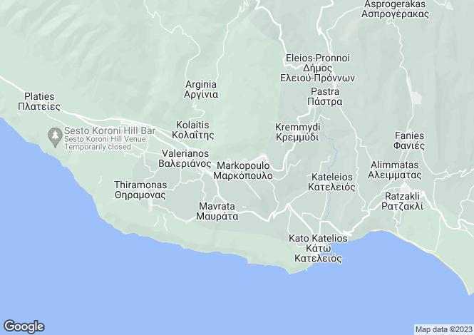 Map for Ionian Islands, Cephalonia, Atsoupades