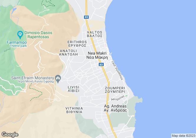 Map for Attica, Nea Makri
