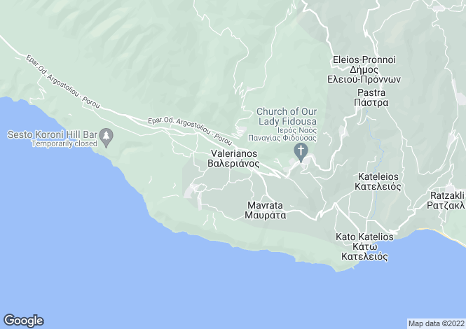 Map for Ionian Islands, Cephalonia, Valeriano
