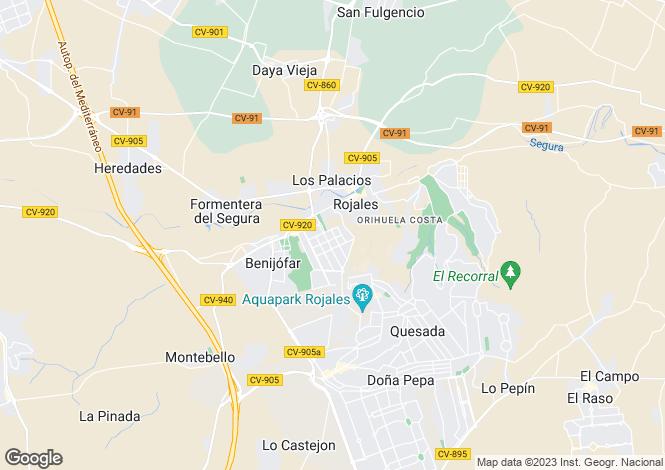 Map for Benijófar, Benijófar, Alicante
