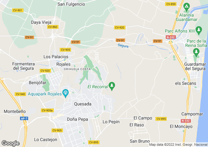 Map for Quesada, Alicante, Spain