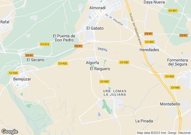 Map for Algorfa, Alicante