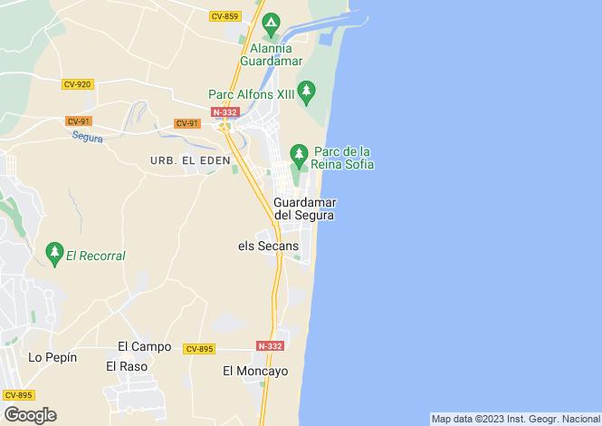 Map for Valencia, Alicante, Guardamar del Segura