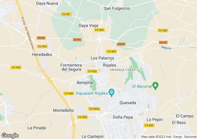 Map for Spain - Valencia, Alicante, Benijofar