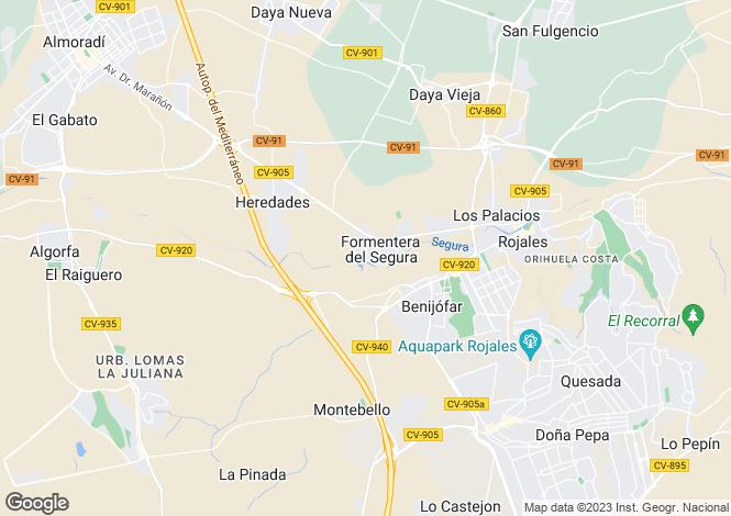 Map for Formentera Del Segura, Alicante, Valencia