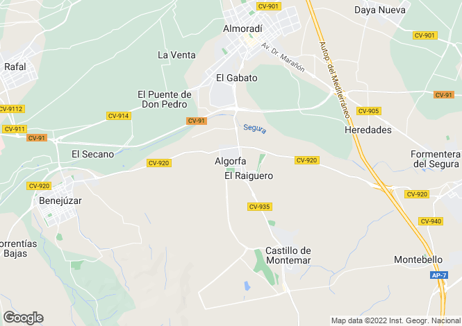 Map for Algorfa, Alicante, Spain