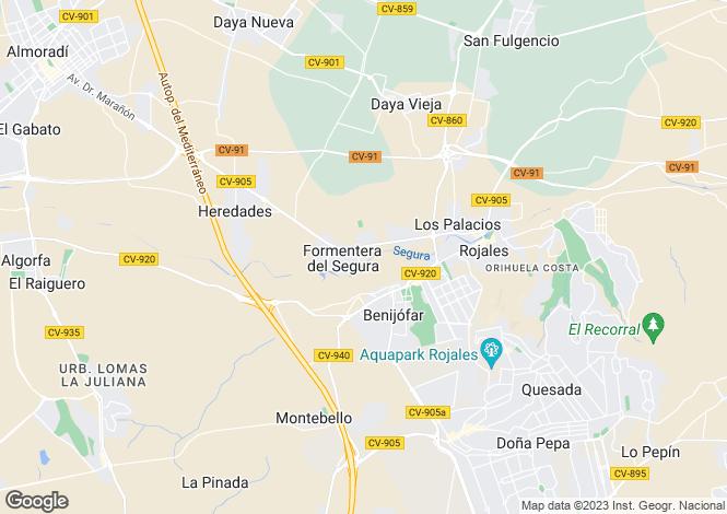 Map for Formentera Del Segura, Alicante, Spain