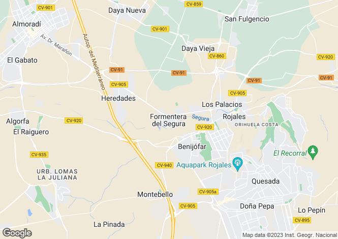 Map for Formentera Del Segura