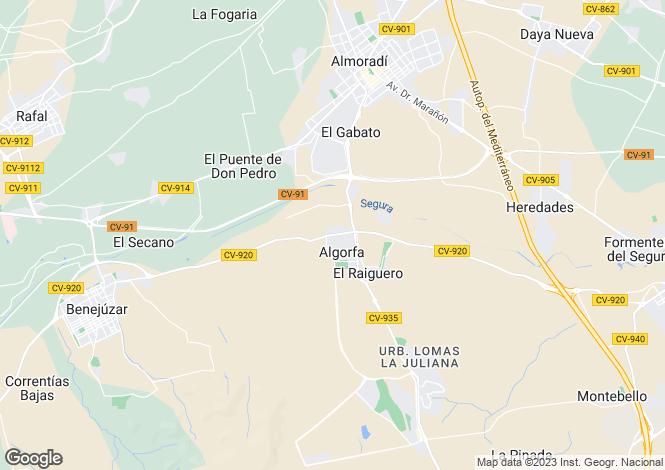 Map for Algorfa, Alicante, Spain