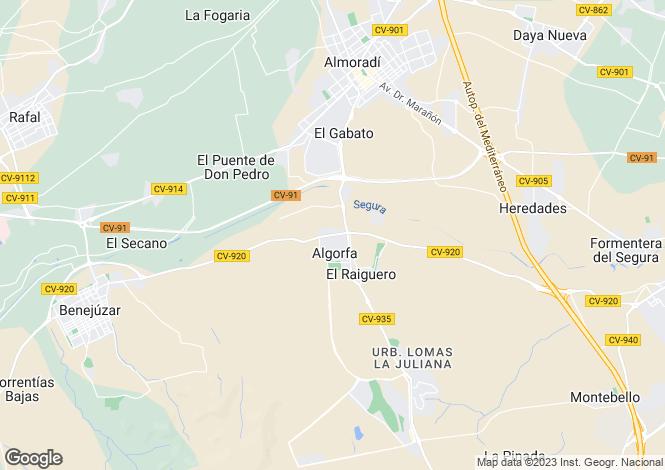 Map for Algorfa, Algorfa, Alicante, Spain