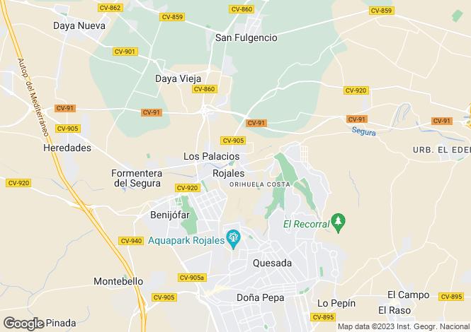 Map for Valencia, Alicante, Rojales