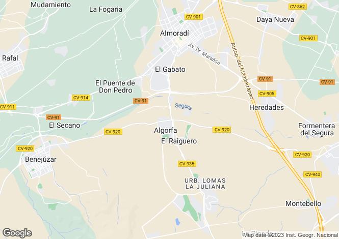 Map for Algorfa, Alicante, Valencia