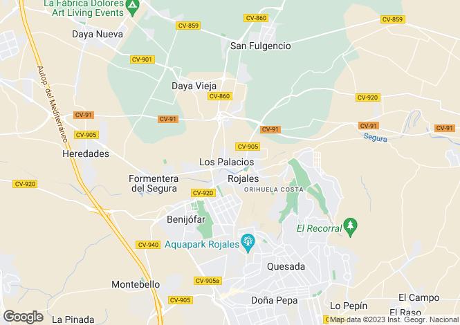 Map for Los Palacios, Alicante, Spain