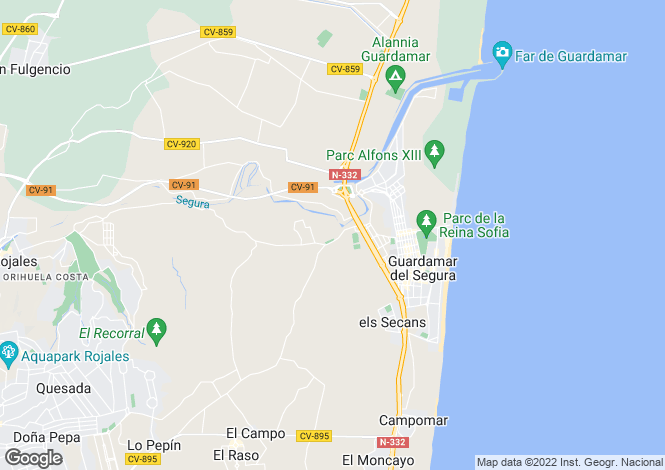 Map for Guardamar del Segura, Guardamar del Segura, Alicante