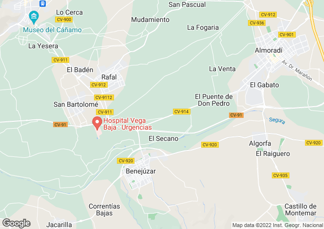 Map for Benejuzar, Alicante, Spain