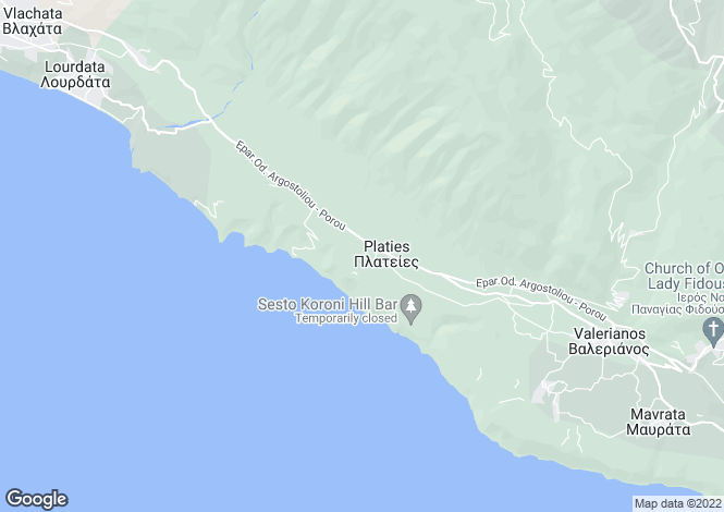 Map for Platies, Cephalonia, Ionian Islands