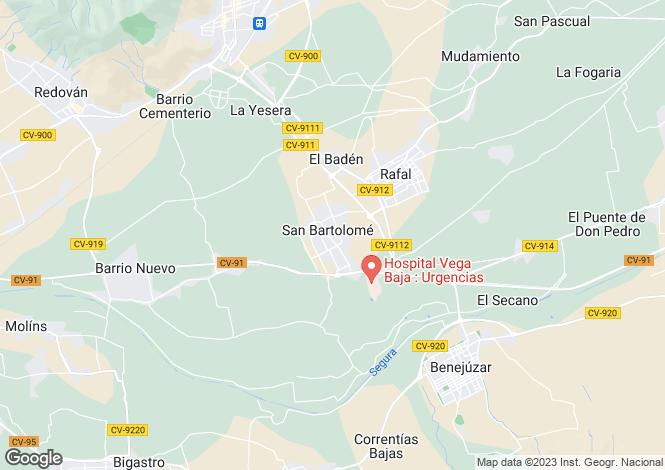 Map for San Bartolome, Alicante, Spain