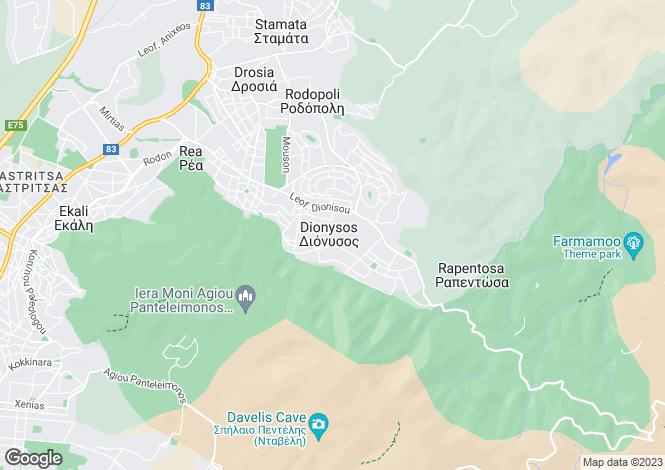 Map for Ekali, Attica