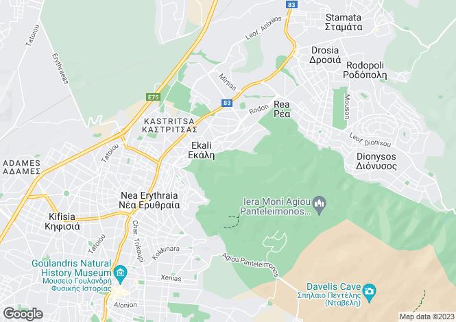Map for Attica, Agios Stefanos