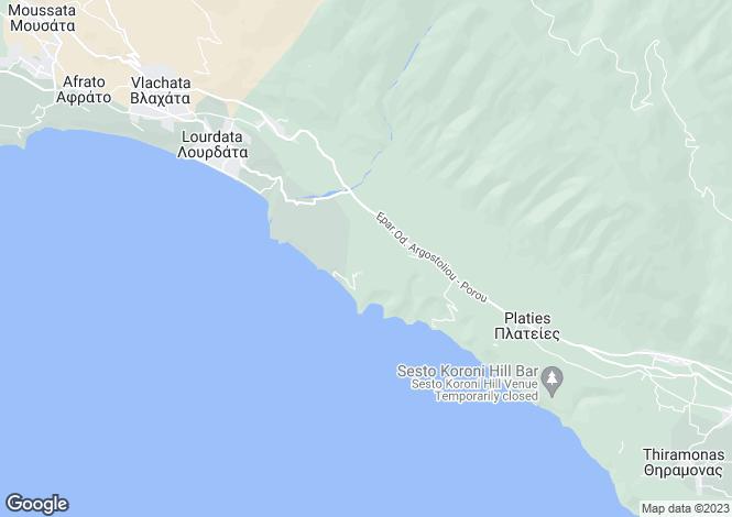 Map for Ionian Islands, Cephalonia, Sisia