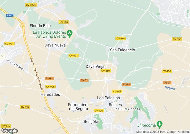 Map for Daya Vieja, Alicante, Valencia