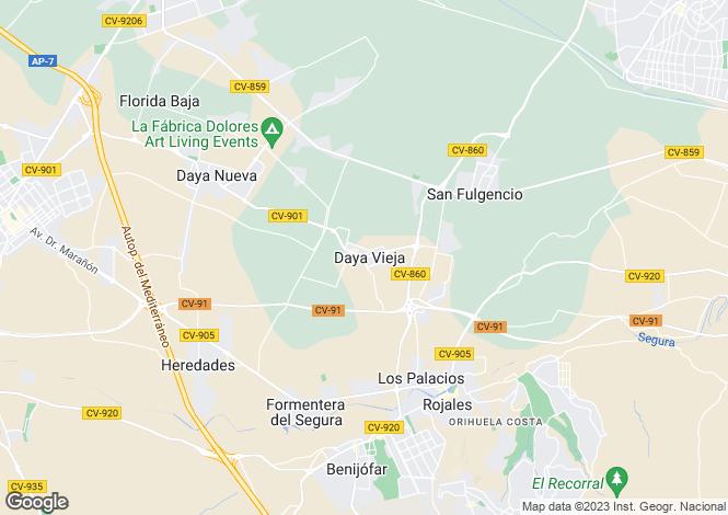 Map for Daya Vieja, Alicante, Spain