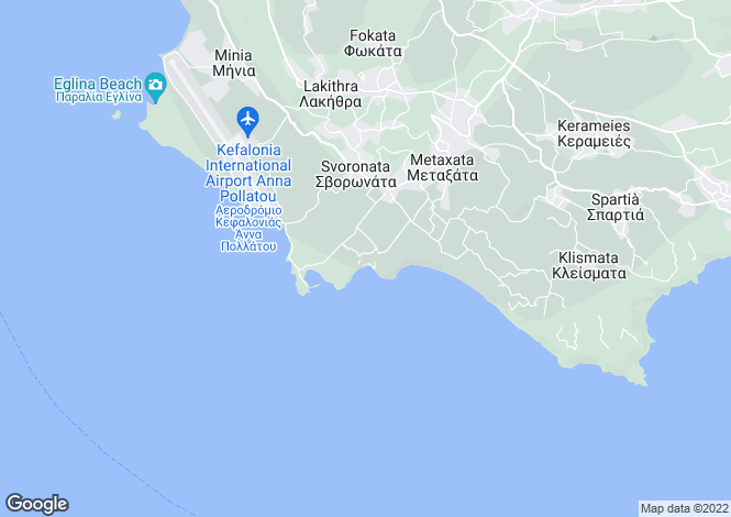 Map for Ionian Islands, Cephalonia, Avithos