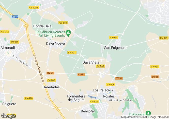Map for Daya Vieja