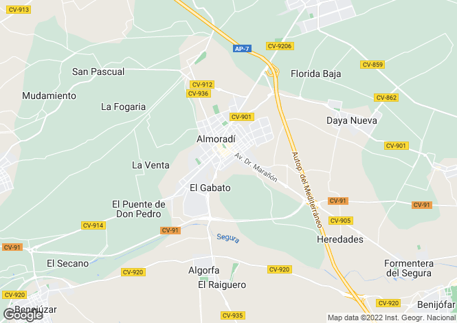 Map for Almoradi, Alicante, Spain