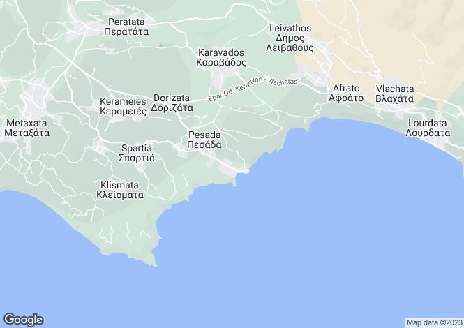 Map for Pesada, Cephalonia, Ionian Islands