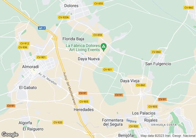 Map for Daya Nueva, Daya Nueva, Alicante, Spain